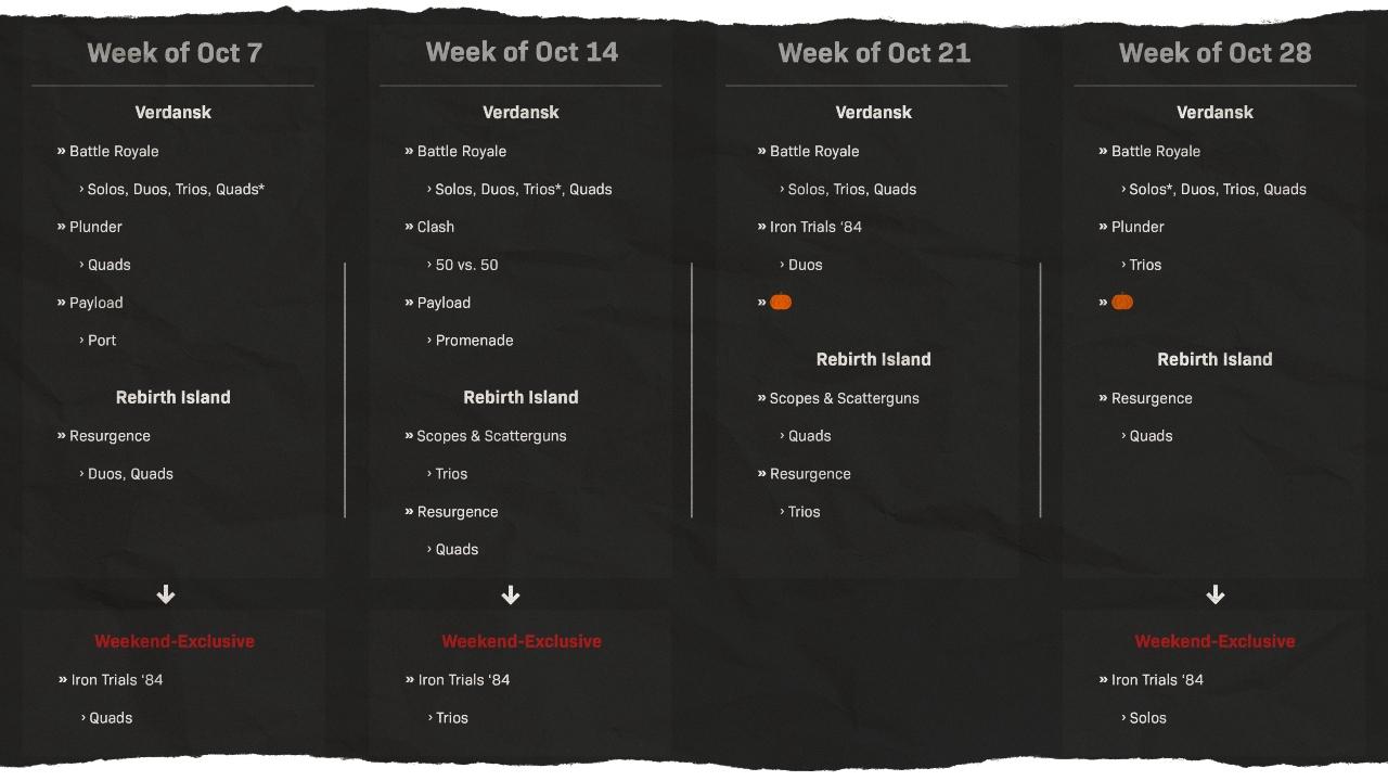 Warzone-Schedule-October-GamersRD