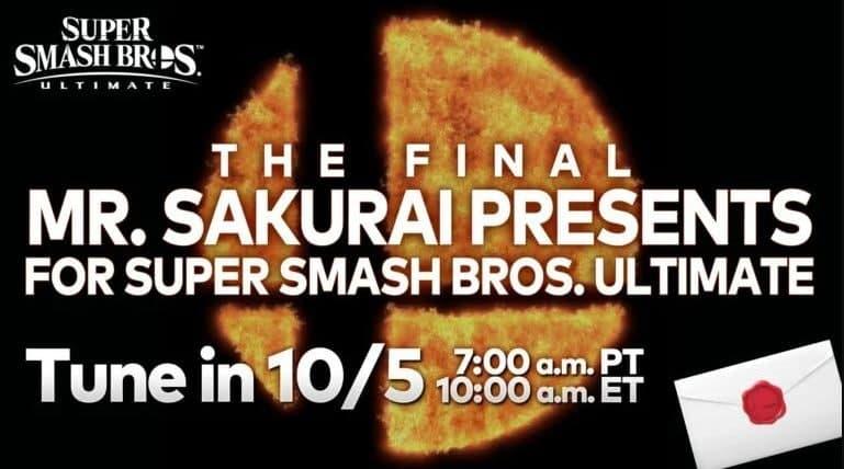 Sakurai dice que deberías ver la revelación del personaje final incluso si no juegas Smash Bros, GamersRD